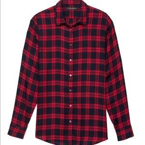 Dillon Plaid Button-Up Flannel - XS, Petite